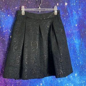 Banana Republic_Green & Black Pleated Skirt 8